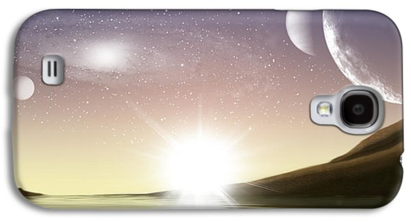 A Distant World Sunset Galaxy S4 Case by Brian Wallace