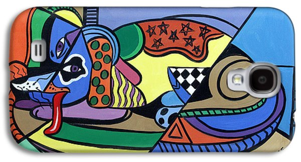 Dog Framed Prints Digital Art Galaxy S4 Cases - A Dog Named Picasso Galaxy S4 Case by Anthony Falbo