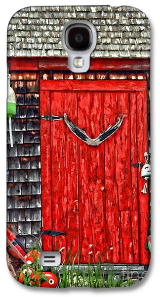 Old Maine Houses Galaxy S4 Cases - A Door In Maine Galaxy S4 Case by Darren Fisher