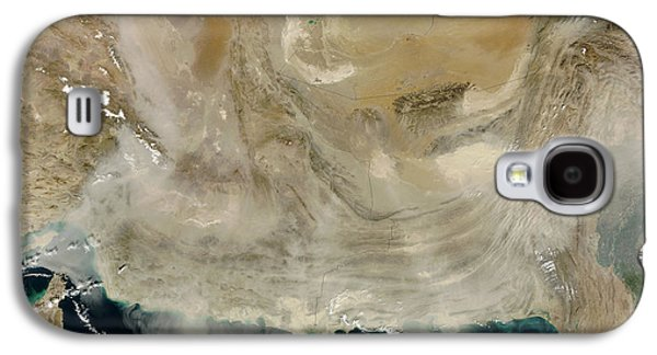 Ocean Of Emptiness Galaxy S4 Cases - A Dust Storm Stretching From The Coast Galaxy S4 Case by Stocktrek Images