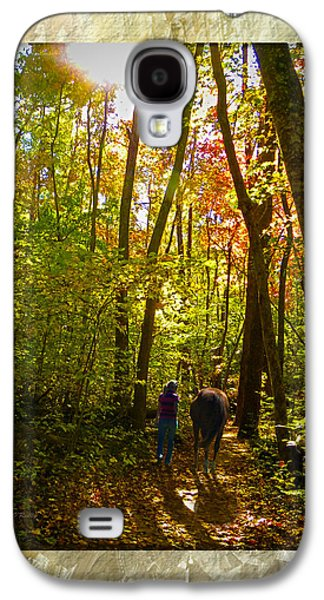Person Galaxy S4 Cases - A Fall Walk With My Best Friend Galaxy S4 Case by Sandi OReilly