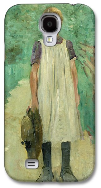 Youthful Galaxy S4 Cases - A Farmgirl Galaxy S4 Case by Thomas Ludwig Herbst