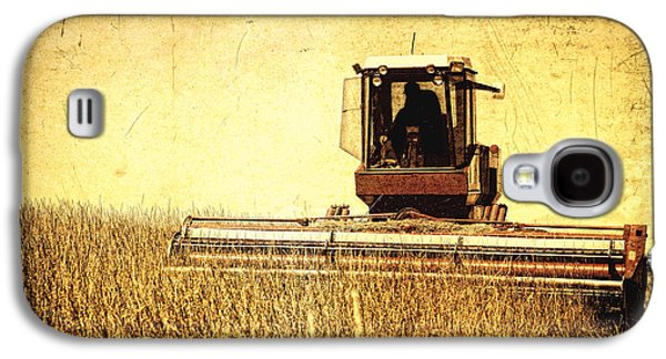 Machinery Galaxy S4 Cases - A Field for Harvest Galaxy S4 Case by Lincoln Rogers