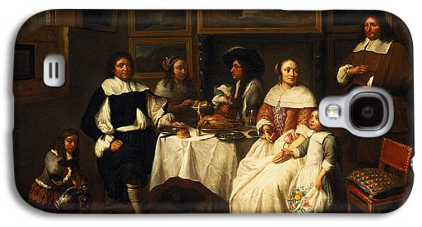 Dine Galaxy S4 Cases - A Flemish Family At Dinner Galaxy S4 Case by Gillis van Tilborgh