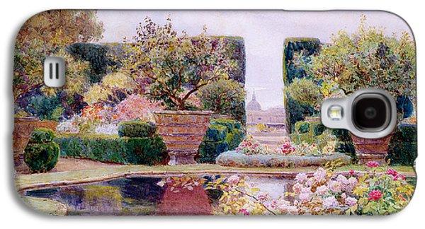 Garden Art Galaxy S4 Cases - A Formal Garden in Rome Galaxy S4 Case by George Samuel Elgood