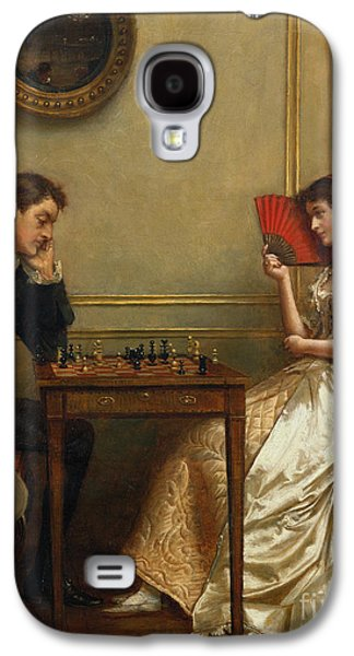 Pride Paintings Galaxy S4 Cases - A Game of Chess Galaxy S4 Case by George Goodwin Kilburne
