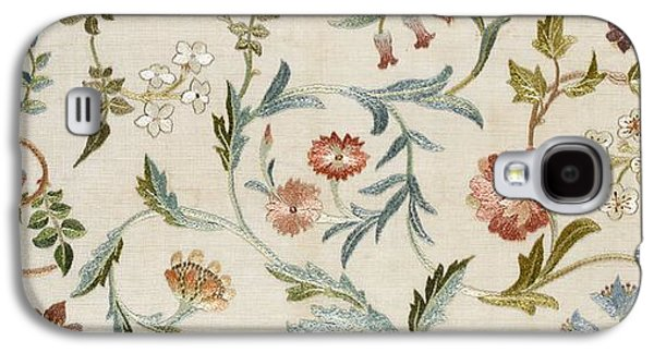 Floral Tapestries - Textiles Galaxy S4 Cases - A Garden Piece Galaxy S4 Case by May Morris