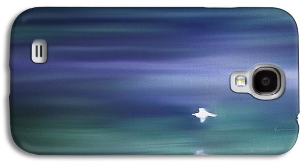 Abstract Digital Paintings Galaxy S4 Cases - A Gentle Breeze Galaxy S4 Case by Kume Bryant