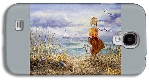A Girl And The Ocean Galaxy S4 Case by Irina Sztukowski