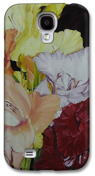 Gladiolas Paintings Galaxy S4 Cases - A Glad Song Galaxy S4 Case by Michael Race