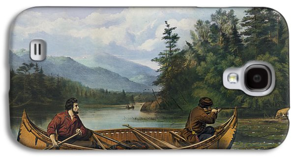 Canoe Drawings Galaxy S4 Cases - A good chance circa 1863 Galaxy S4 Case by Aged Pixel