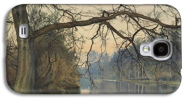 River View Paintings Galaxy S4 Cases - A Great Tree on a Riverbank Galaxy S4 Case by William Fraser Garden