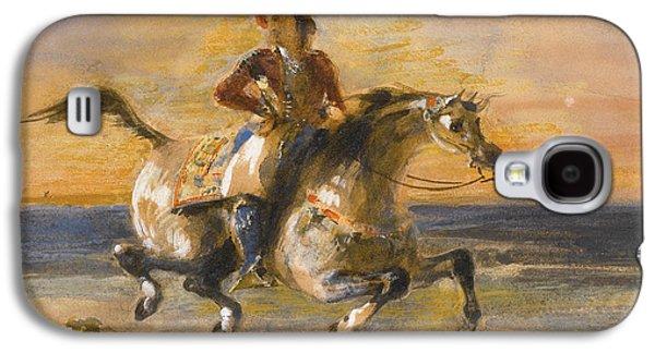 Delacroix Galaxy S4 Cases - A Greek Horseman Galaxy S4 Case by Eugene Delacroix