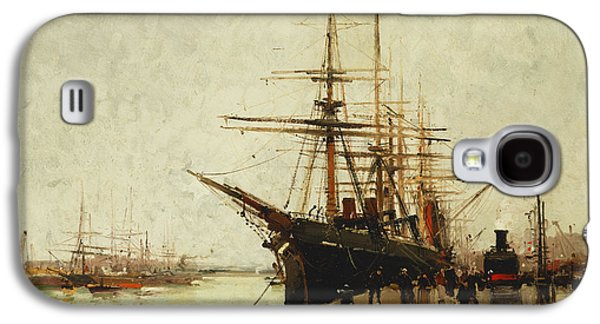 19th Century Galaxy S4 Cases - A Harbor Galaxy S4 Case by Eugene Galien-Laloue