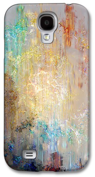 Modern Digital Art Galaxy S4 Cases - A Heart So Big - Abstract Art Galaxy S4 Case by Jaison Cianelli