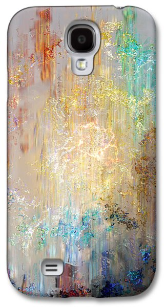 Print On Canvas Galaxy S4 Cases - A Heart So Big - Custom Version 2 - Abstract Art Galaxy S4 Case by Jaison Cianelli