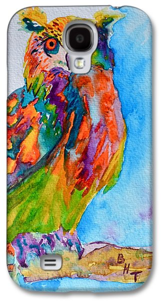 Yellow Beak Paintings Galaxy S4 Cases - A Hootiful Moment In Time Galaxy S4 Case by Beverley Harper Tinsley