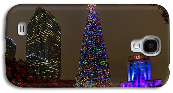 Skyline Galaxy S4 Cases - A Houston Christmas Galaxy S4 Case by Tim Stanley