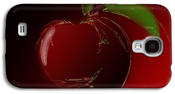 Abstract Digital Mixed Media Galaxy S4 Cases - A Is For Apple 1 Galaxy S4 Case by Andee Design