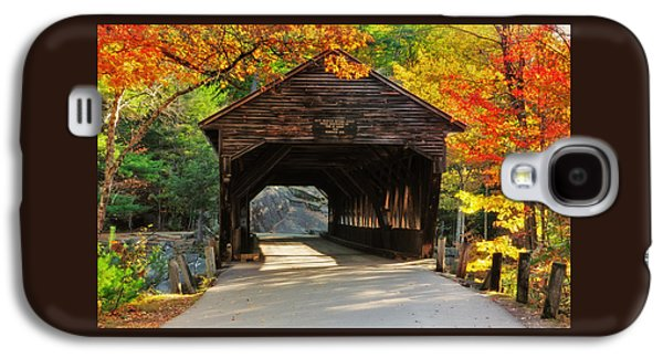 A Kancamagus Gem - Albany Covered Bridge Nh Galaxy S4 Case by Thomas Schoeller