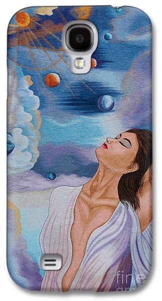Concept Tapestries - Textiles Galaxy S4 Cases - A Kiss to the Millennium hand embroidery Galaxy S4 Case by To-Tam Gerwe