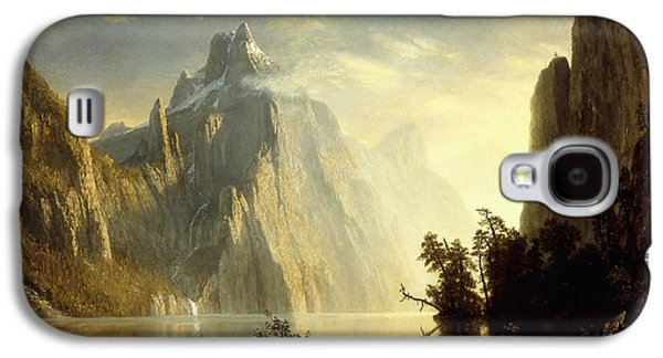 Wilderness Paintings Galaxy S4 Cases - A Lake in the Sierra Nevada Galaxy S4 Case by Albert Bierstadt