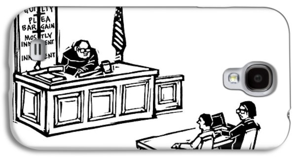 A Lawyer Says To Her Client Galaxy S4 Case by Drew Dernavich