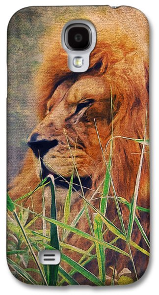 A Lion Portrait Galaxy S4 Case by Angela Doelling AD DESIGN Photo and PhotoArt