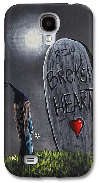 Dreamscape Galaxy S4 Cases - A Little Bit Broken Original Painting Galaxy S4 Case by Shawna Erback