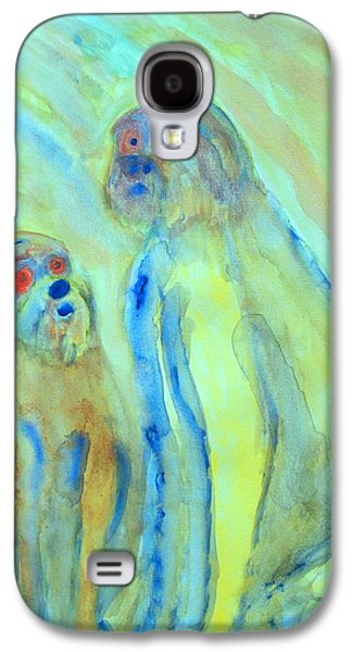 Component Paintings Galaxy S4 Cases - A Little Troll Family  Galaxy S4 Case by Hilde Widerberg