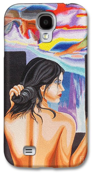 Kim Tapestries - Textiles Galaxy S4 Cases - A Look into the Past hand embroidery Galaxy S4 Case by To-Tam Gerwe