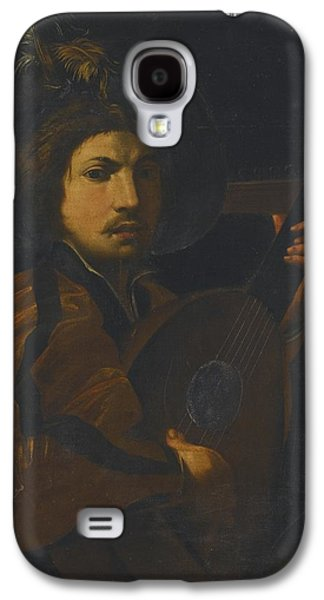 Lute Paintings Galaxy S4 Cases - A Lute Player Galaxy S4 Case by Celestial Images