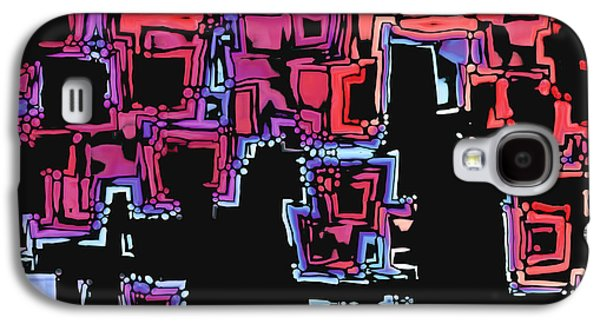 """""""digital Abstract"""" Galaxy S4 Cases - A Maze Zing - 01c07a Galaxy S4 Case by Variance Collections"""