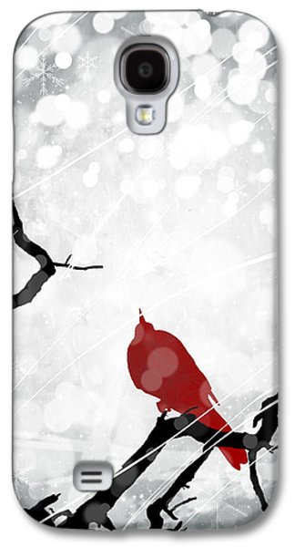 Abstract Digital Mixed Media Galaxy S4 Cases - A Merry Little Christmas 2 Galaxy S4 Case by Melissa Smith