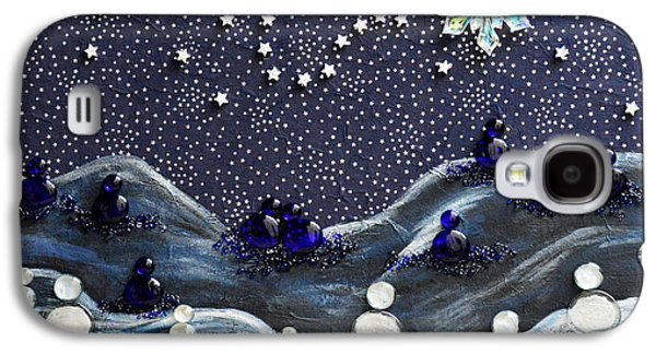 Constellations Paintings Galaxy S4 Cases - A Midnight Clear Galaxy S4 Case by Donna Blackhall