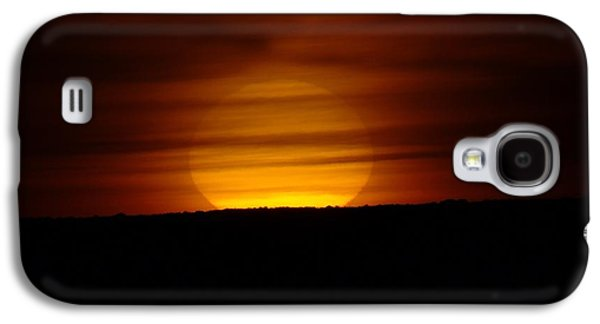 Contemplative Photographs Galaxy S4 Cases - A Misted Sunset Galaxy S4 Case by Jeff  Swan