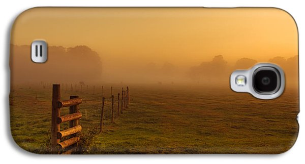 A Misty Sunrise Galaxy S4 Case by Chris Fletcher