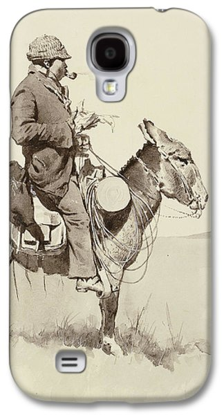 Westerns Drawings Galaxy S4 Cases - A Modern Sancho Panza Galaxy S4 Case by Frederic Remington