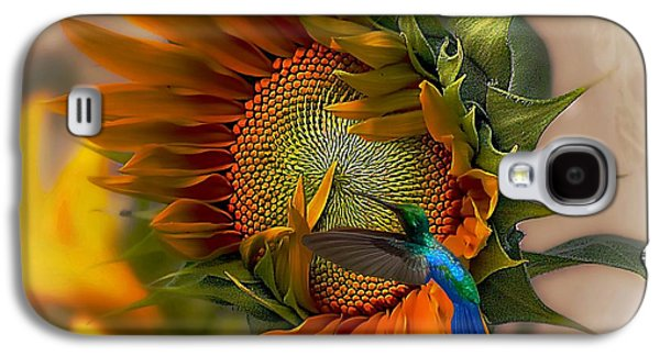 Sunflower Garden Galaxy S4 Cases - A Moment In Time Galaxy S4 Case by John  Kolenberg