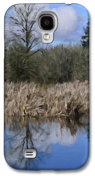 Waterscape Mixed Media Galaxy S4 Cases - A Moment of Reflection Galaxy S4 Case by Bonnie Bruno
