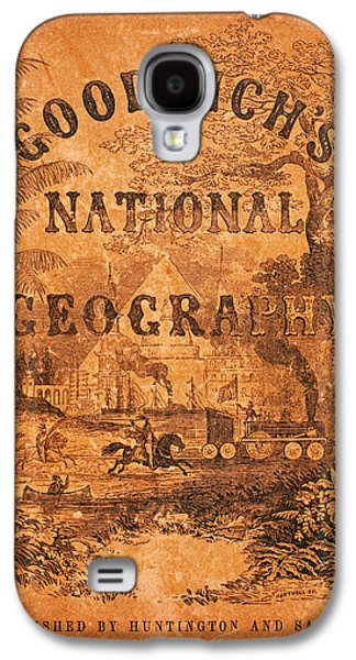 Plans Paintings Galaxy S4 Cases - A National Geography for Schools with a Globe Map on a New Plan 1845 Galaxy S4 Case by Celestial Images