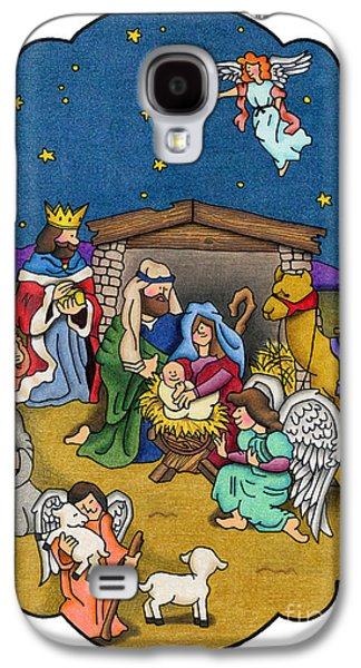 A Nativity Scene Galaxy S4 Case by Sarah Batalka