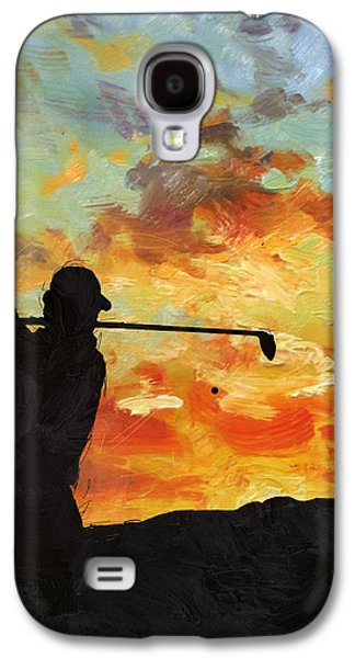 The Tiger Paintings Galaxy S4 Cases - A new dawn Galaxy S4 Case by Catf