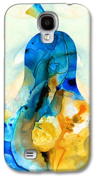 Still Life Mixed Media Galaxy S4 Cases - A Nice Pear - Abstract Art By Sharon Cummings Galaxy S4 Case by Sharon Cummings