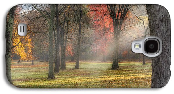 Surreal Landscape Galaxy S4 Cases - A November Morning Square Galaxy S4 Case by Bill  Wakeley