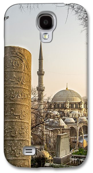 Headstones Galaxy S4 Cases - A Ottoman Gravestone And Eyup Sultan Mosque At Eyup Istanbul Galaxy S4 Case by Leyla Ismet
