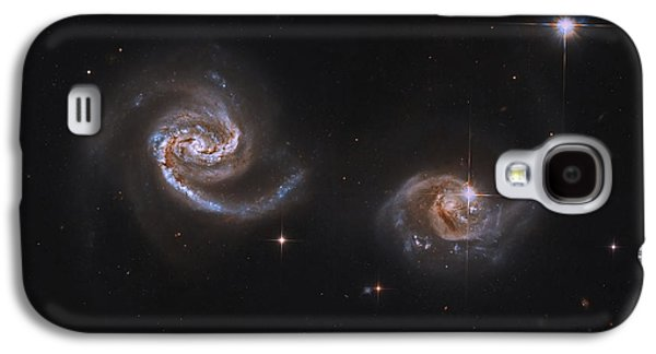 Merging Galaxy S4 Cases - A Pair Of Interacting Spiral Galaxies Galaxy S4 Case by Roberto Colombari