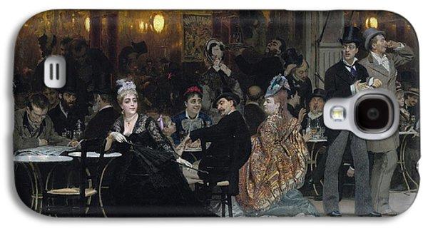 A Parisian Cafe Galaxy S4 Case by Ilya Efimovich Repin