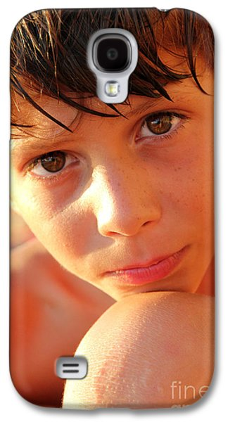 Headshot Galaxy S4 Cases - A Penny for Your Thoughts Galaxy S4 Case by Jasna Buncic