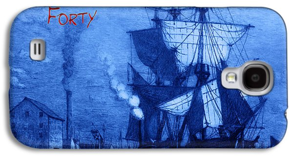 Boats At Dock Galaxy S4 Cases - A Pirate Looks At Forty Galaxy S4 Case by John Stephens